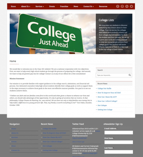 Class 101, College Finance and Planning