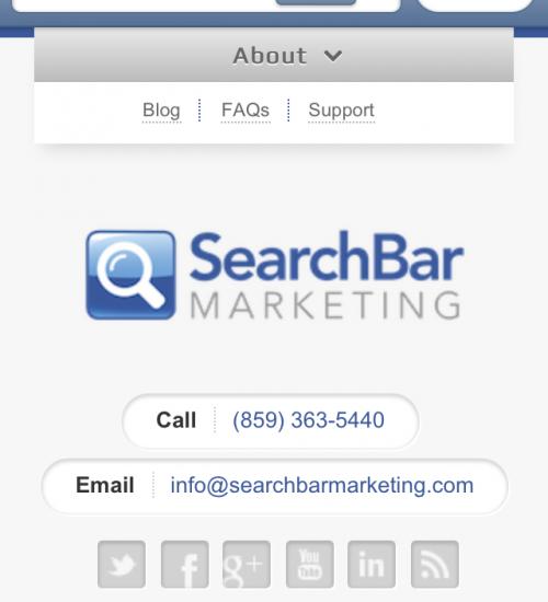 SearchBar Marketing Responsive Design