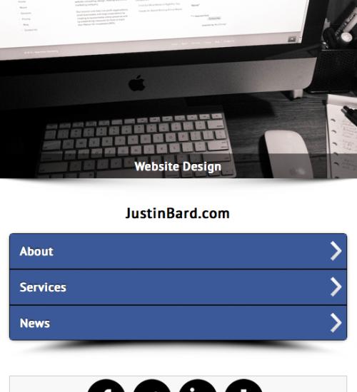 JustinBard.com Mobile Website Design