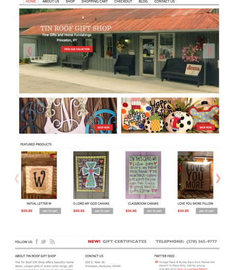 Tin Roof Gift Shop