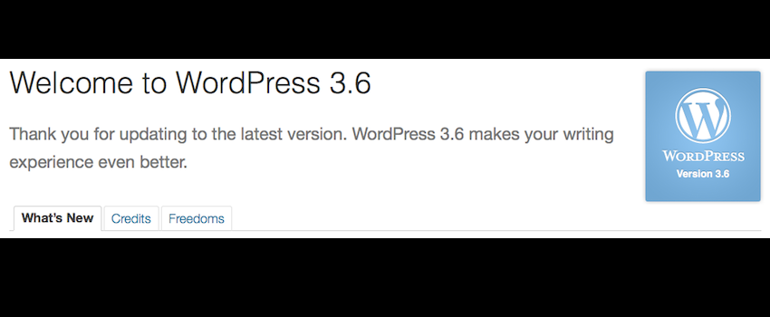Welcome to WordPress 3.6