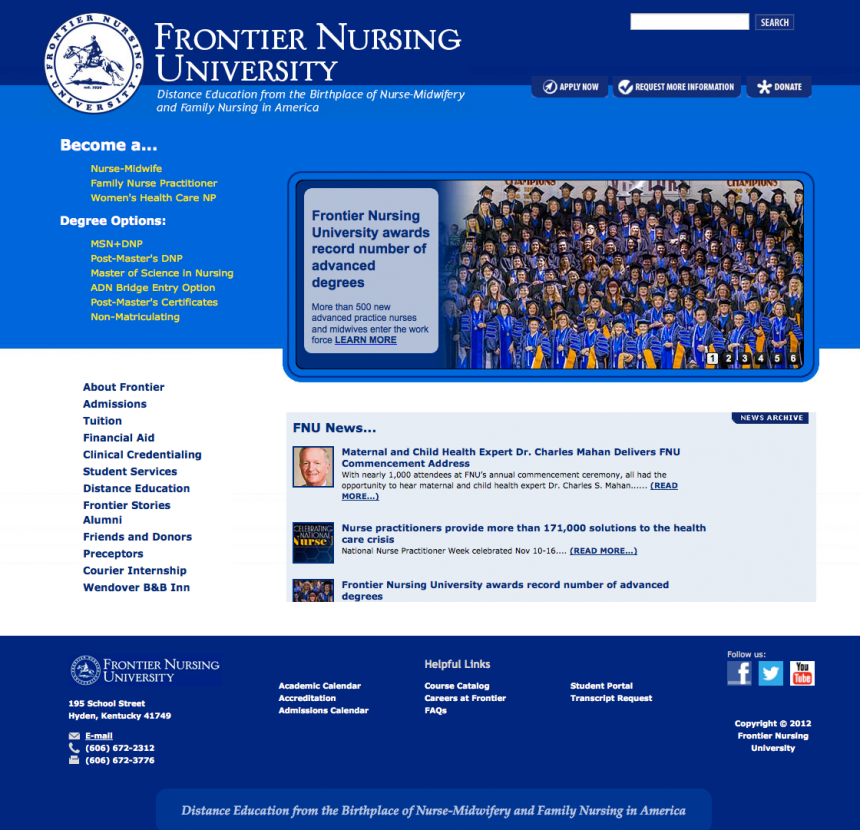 Frontier Nursing University Search Engine Optimization