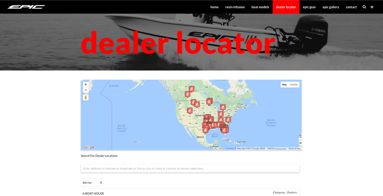 Epic Boats Dealer Locator